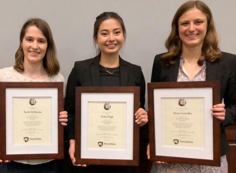 Women holding degrees